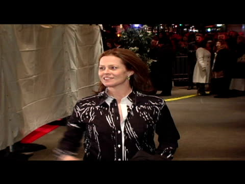 sigourney weaver at the 'brokeback mountain' new york premiere at lowes lincoln square in new york, new york on december 6, 2005. - sigourney weaver stock videos & royalty-free footage