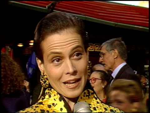 Sigourney Weaver at the 'Ghost Busters II' Premiere at Grauman's Chinese Theatre in Hollywood California on June 15 1989