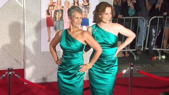 sigourney weaver jamie lee curtis at the 'you again' premiere at hollywood ca - sigourney weaver stock videos & royalty-free footage