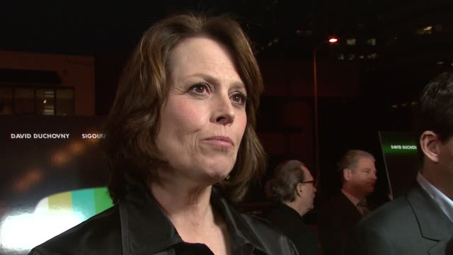 sigourney weaver on her favorite scene at the 'the tv set' premiere at crest theater in los angeles, california on march 28, 2007. - sigourney weaver stock videos & royalty-free footage