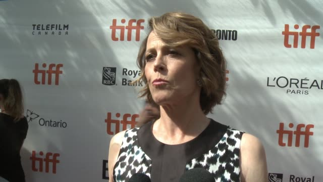 interview sigourney weaver on what she loved about this story and how the fantasy aspect of the film balances out the more serious matter at roy... - sigourney weaver stock videos & royalty-free footage
