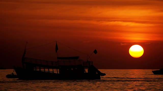 sihanoukville sunset, cambodia - cambodia stock videos and b-roll footage