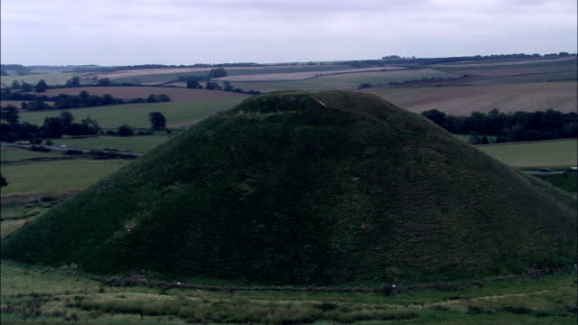Silbury Hill  - Aerial View - England, Wiltshire, United Kingdom