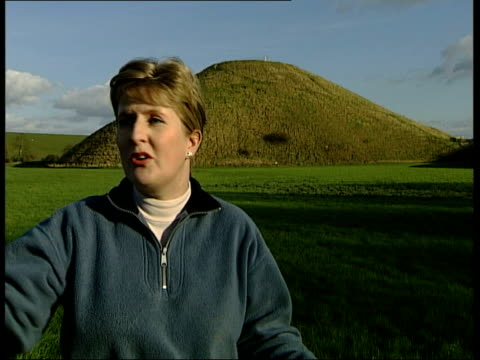 silbury hill prehistoric monument new research amanda chadburn interviewed sot seems to me they decided it wasn't big enough size scale is important... - prehistoric art stock videos & royalty-free footage