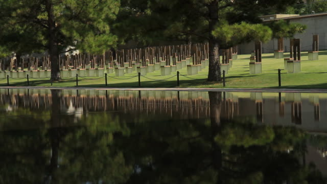 Silent Chairs at the Oklahoma City Bombing Memorial