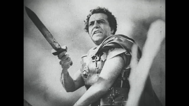 silent film of the punic wars between rome and carthage. roman legions battle it out with hannibal's forces. - 1930 stock videos & royalty-free footage