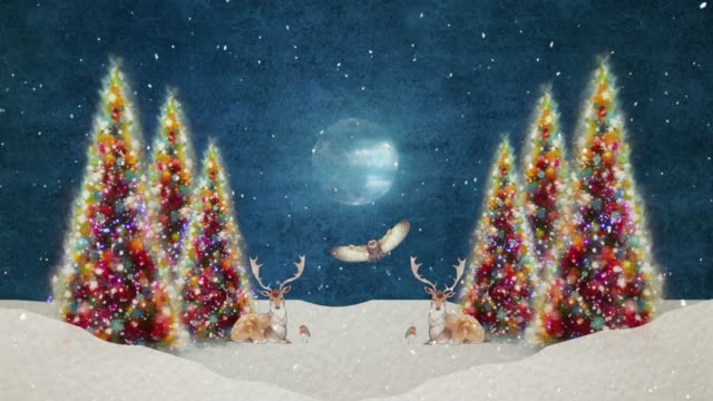 silent night is an animated mini-series of winter scenery. - non urban scene stock videos & royalty-free footage