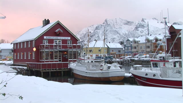 hd: silent town in norway - fishing village stock videos and b-roll footage