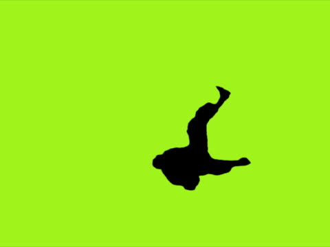 silhouette dancer (green). pal - silhouette stock videos & royalty-free footage