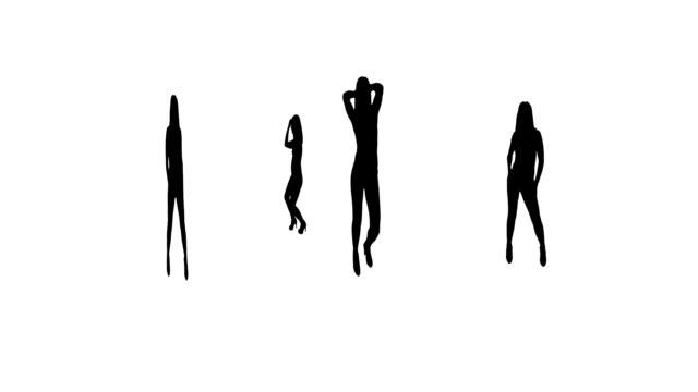 silhouette mädchen tanz - erotischer tanz stock-videos und b-roll-filmmaterial