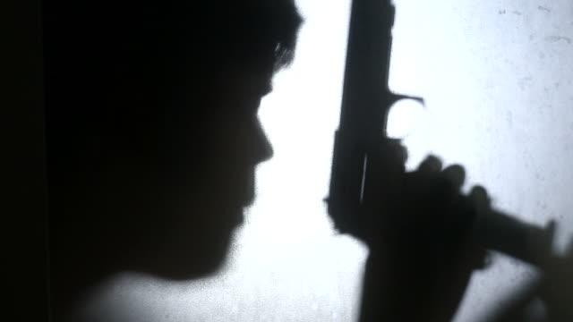 Silhouet moordenaar