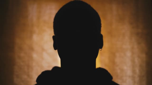 Silhouette of a Black man