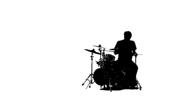 silhouette of a drummer - silhouette stock videos & royalty-free footage