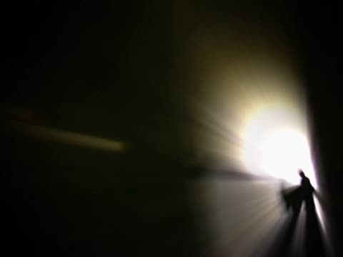 silhouette of a group of people in a tunnel - unknown gender stock videos & royalty-free footage
