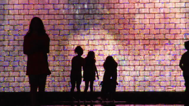 silhouette of children playing #04 - brick stock videos & royalty-free footage