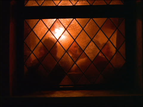 silhouette of crowd in beer hall seen thru frosted window / germany - 1992 stock videos & royalty-free footage