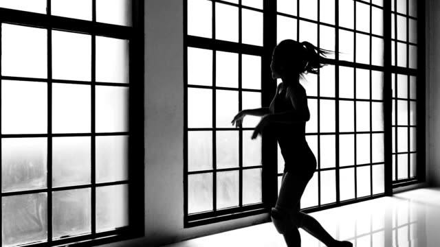 silhouette of dancing - 10 11 years stock videos & royalty-free footage