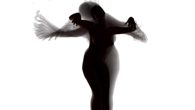 silhouette of dancing women - black and white stock videos & royalty-free footage