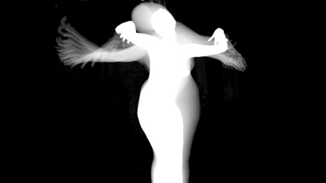 silhouette of dancing women - cut out stock videos & royalty-free footage