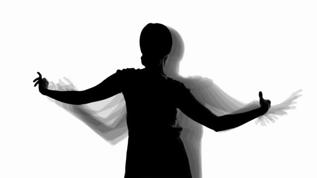 silhouette of dancing women - silhouette stock videos & royalty-free footage