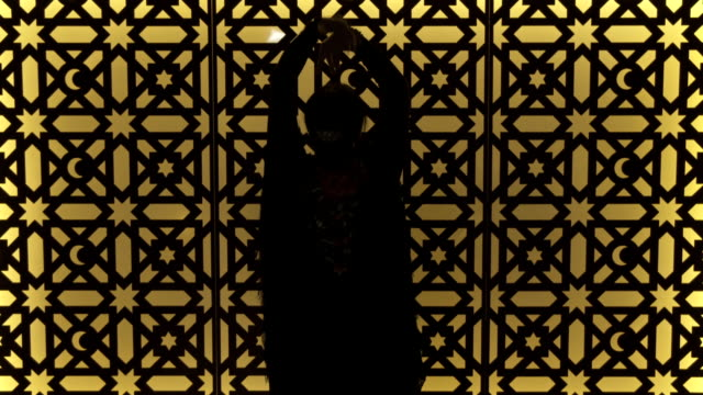 m/s silhouette of flamenco dancer (woman) - flamenco dancing stock videos & royalty-free footage