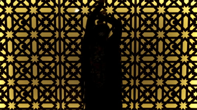 m/s silhouette of flamenco dancer (woman) - flamenco dancing stock videos and b-roll footage