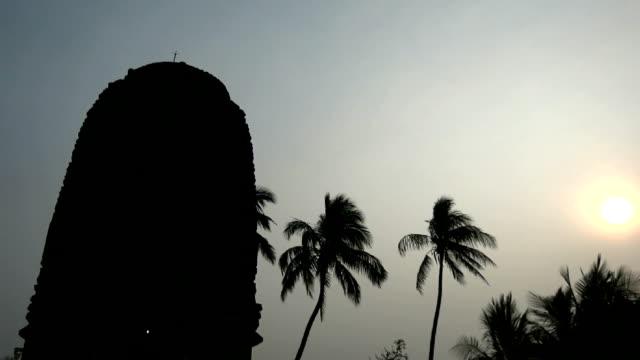 Silhouette of Indian Temple