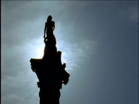 silhouette of nelson's column - nelson's column stock videos & royalty-free footage