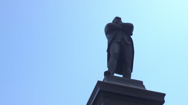 silhouette of samuel adams monument - monument stock videos & royalty-free footage