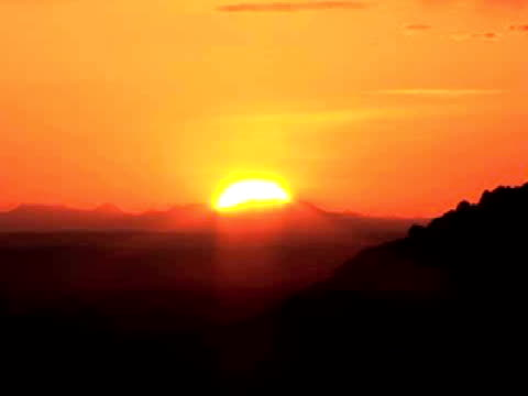 ms, zo, silhouette of west mitten butte at sunrise, monument valley tribal park, arizona/utah, usa - butte rocky outcrop stock videos & royalty-free footage