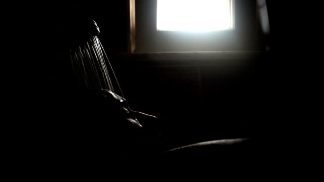 silhouette of young man showing in bathroom - washing hair stock videos & royalty-free footage
