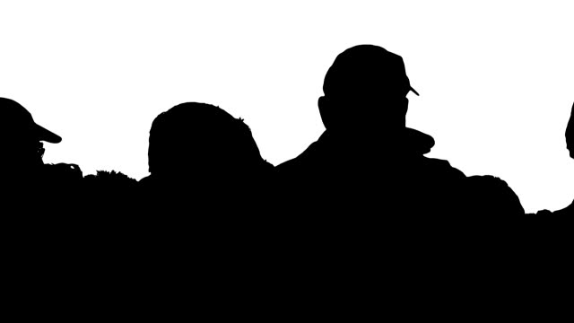silhouettes of people looking at view - baseball cap stock videos & royalty-free footage