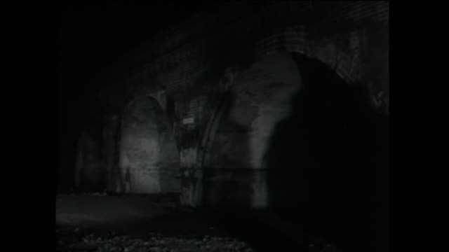 silhouettes of two men talking in shadow of bridge; 1958 - suspicion stock videos & royalty-free footage