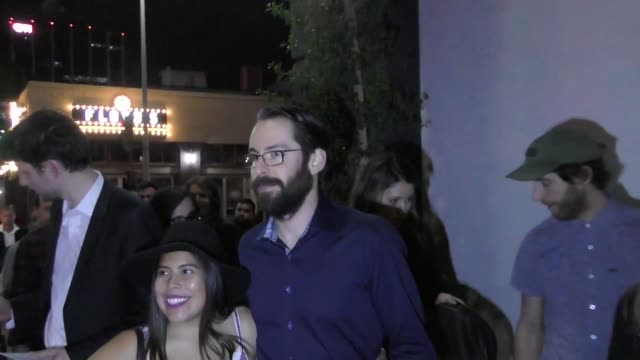 'silicon valley' cast outside tao restaurant in hollywood in celebrity sightings in los angeles - cast member stock videos & royalty-free footage