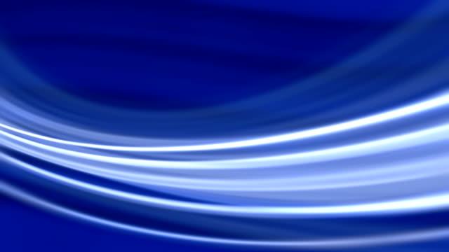 vidéos et rushes de soie fluide vagues fond bleu (boucle) - circonvolution