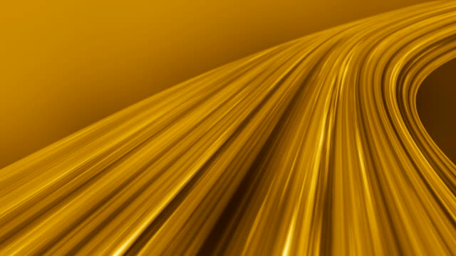 Silk Gold Flowing Waves Background (Loopable)