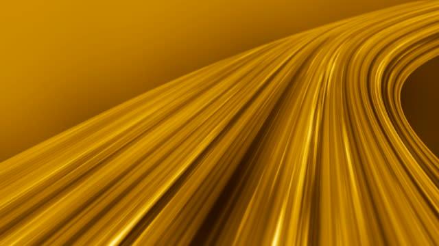 Soie fluide vagues fond d'or (boucle)