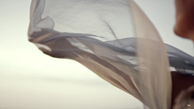 silk on wind. - elegance stock videos & royalty-free footage
