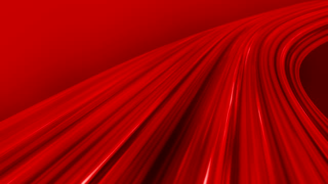 Silk Red Flowing Waves Background (Loopable)