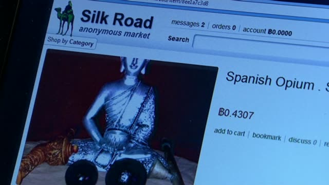 Silk Road founder Ross Ulbricht jailed for life Defence team claim he was framed T27091326 / 2792013 London INT Webpage on Silk Road website selling...