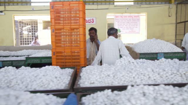 Silkworm cocoon market at Ramanagara, Bangalore