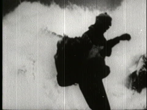 sillhouette of sir edmund hillary takes off his pack after scaling down the k2 mountain in the himalayas. - tenzing norgay stock videos & royalty-free footage