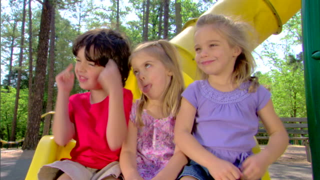 silly children on a slide - see other clips from this shoot 1428 stock videos & royalty-free footage