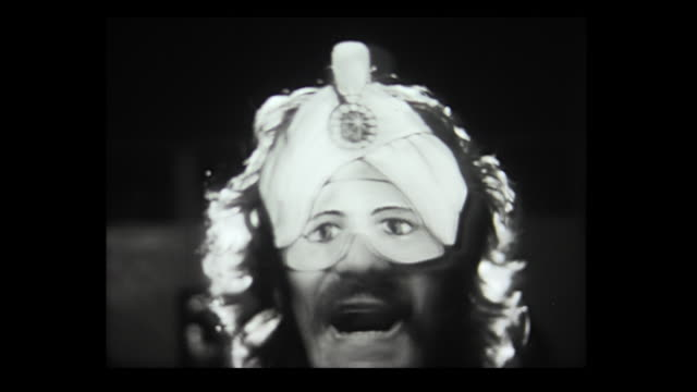 1973 silly faces and masks - bizarre fashion stock videos and b-roll footage