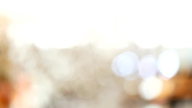 Silver och vit bokeh ljus oskärpa