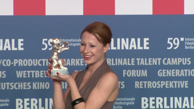 Silver Bear for the Best Actress winner Birgit Minichmayr at the 59th Berlin Film Festival Awards Press Conference at Berlin