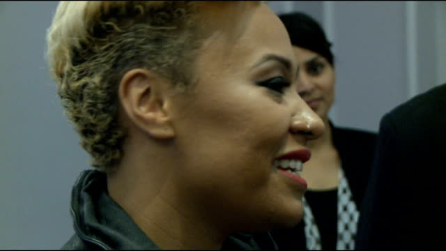celebrity interviews gvs emeli sande emeli sande interview with other crew sot on uk tour in november giving money from shows to charities on the... - music therapy stock videos & royalty-free footage