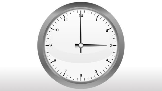 vídeos y material grabado en eventos de stock de plata reloj de 12 horas, timelapse - vector