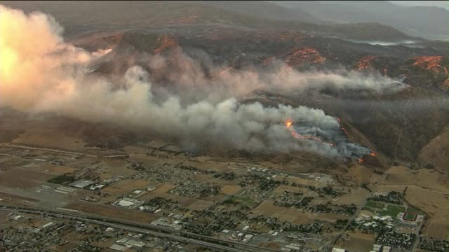 """""""silver fire"""" in california grows to 10,000 acres - riverside california stock videos and b-roll footage"""