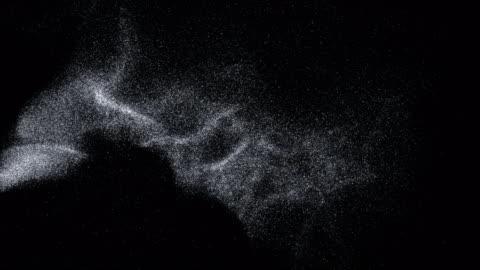stockvideo's en b-roll-footage met zilver vliegen op zwarte achtergrond - 4k resolutie - black background